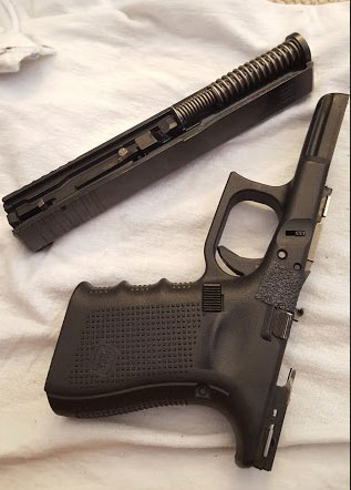field stripped glock