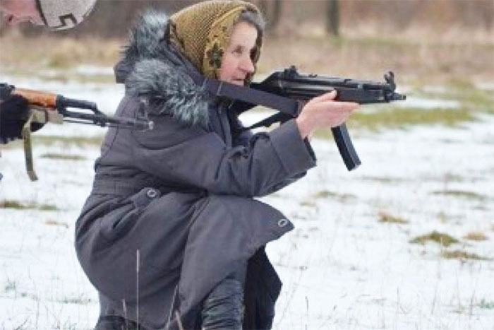 Granny With Gun 60
