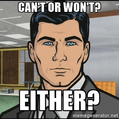 "You ""can't"" or ""won't"" get a Glock 19? In the words of Archer, ""either?"""